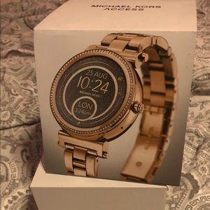 Gold Smart Michael Kors Watch